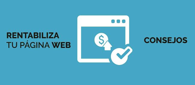 Rentabiliza tu pagina web